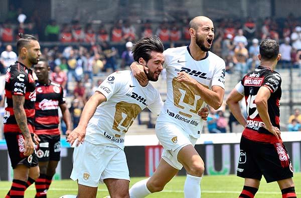 En duelo correspondiente a la jornada 14 del Torneo Clausura 2019 de la Liga MX, el equipo de Pumas de la UNAM venció por marcador de 1-0 a Xolos de Tijuana. FOTO: CUARTOSCURO