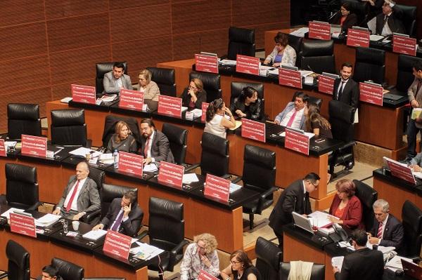 Sesión ordinaria en el Senado de la República, en donde se discutió el dictamen sobre los derechos laborales de las trabajadoras del Hogar. Foto: Cuartoscuro