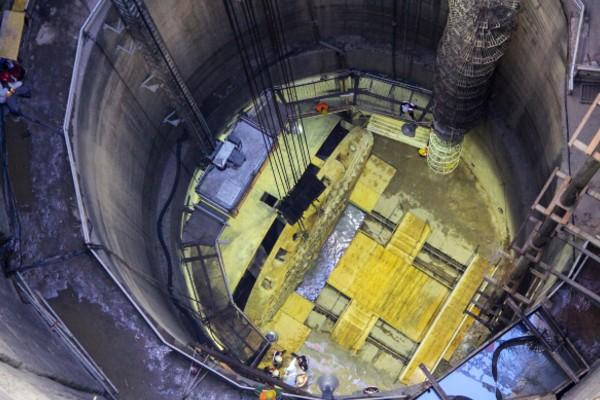 Se trata de dos etapas de obra que se construye con el procedimiento de tubería hincada. Foto: Notimex
