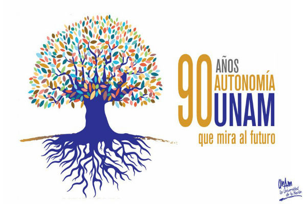 La Universidad Nacional Autónoma de México inició una campaña de comunicación para celebrar 90 años de su autonomía. Foto: De Twitter @SalaPrensaUNAM