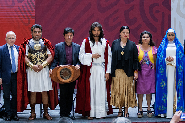 El Viernes Santo se realizará en Iztapalapa el tradicional viacrucis. FOTO: CUARTOSCURO