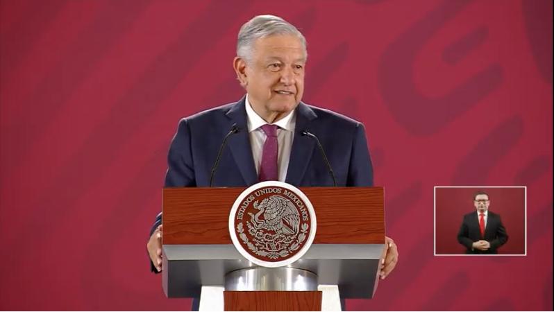 El presidente Andrés Manuel López Obrador desde la conferencia mañanera de este 2 de mayo. Foto: Presidencia.