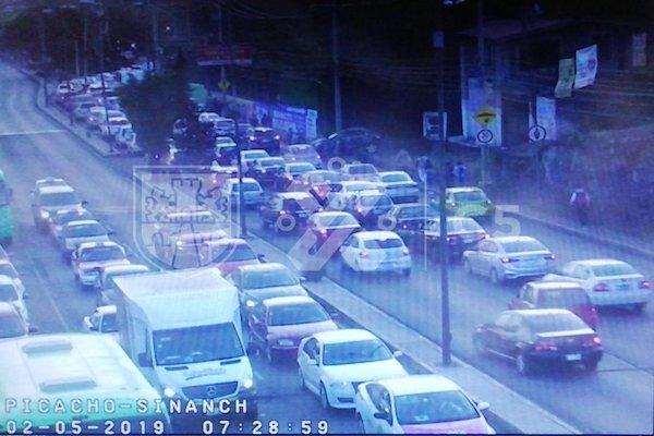 Carga vehicular en Picacho-Ajusco