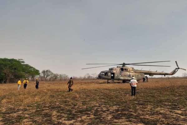 Los elementos del Sistema Estatal de Protección Civil fueron los encargados de combatir el fuego. Foto: PC Chiapas
