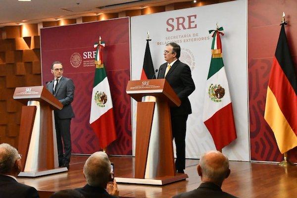 El canciller de México se reunió con el ministro de Relaciones Exteriores de Alemania, Heiko Maas. Foto: @SRE_mx