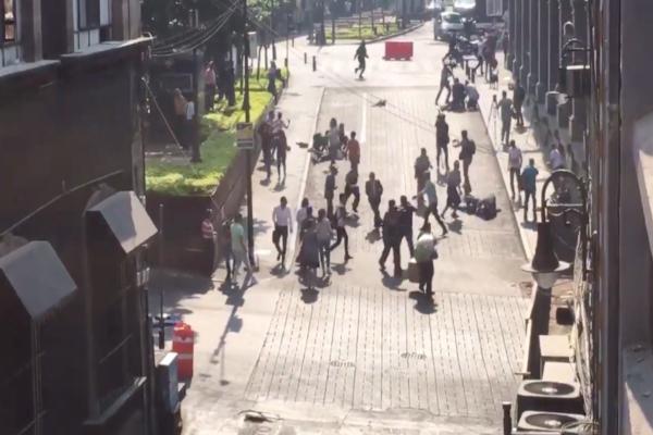 Los hechos se registraron alrededor de las 10:00 de la mañana entre las calles de Galeana y Gutenberg