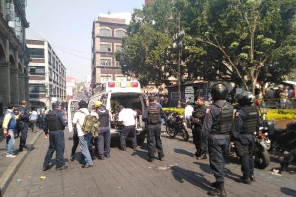 El ataque ocurrió por la mañana en la plaza central de Cuernavaca. Foto: Guadalupe Flores