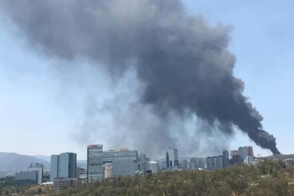 Reportan incendio en la alcaldía Cuajimalpa. Foto: Especial