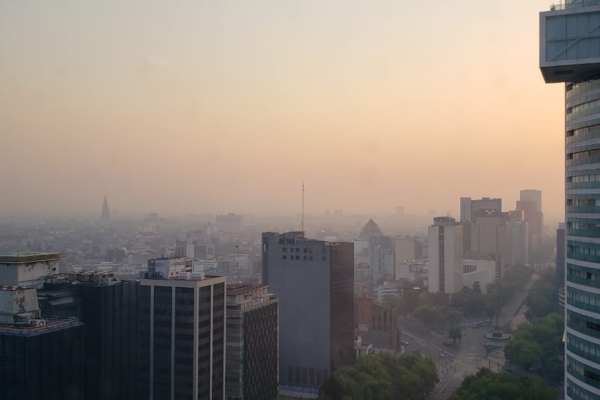 El Valle de México amaneció con 138 puntos en el índice de contaminación. Foto: Luis Hernández