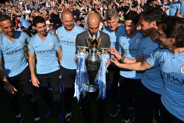 El City pudo mantenerse con un punto de ventaja en la clasificación final sobre el Liverpool. Foto: AFP