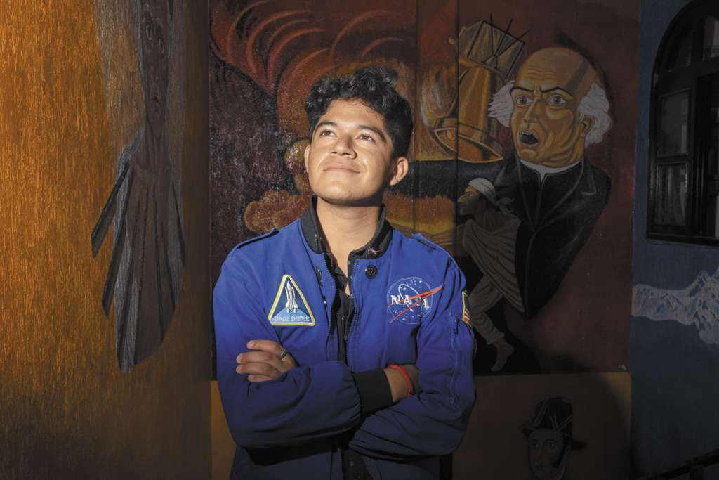 Jonathan tiene 21 años y es originario de Tultepec.FOTO: DANIEL OJEDA