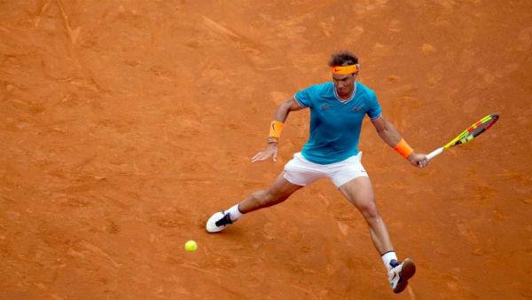 Rafael Nadal en la semifinal de tenis en Madrid. Foto: ESPECIAL.