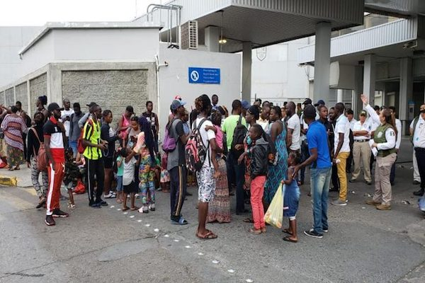 Protesta de migrantes africanos