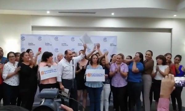 El diputado federal señaló que de casi 350 estancias qué hay en Sinaloa, más de la mitad se sumó, y son las que ahora serán beneficiadas. Foto: Especial