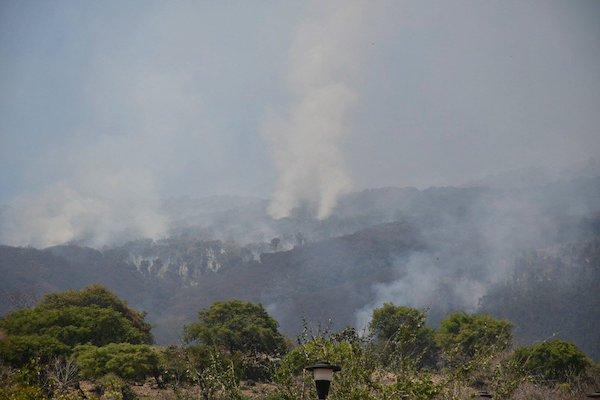 Incendio forestal en Cerro Viejo