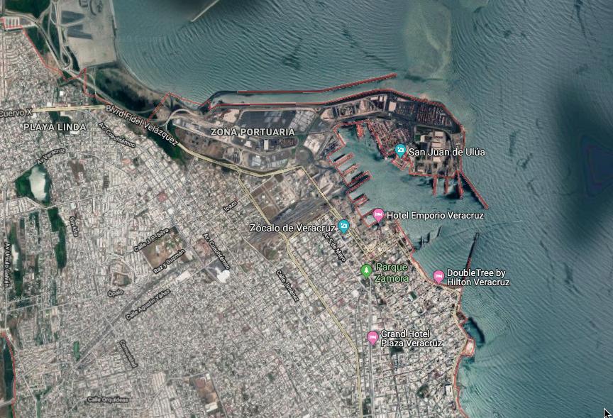 La ampliación del Puerto de Veracruz comenzó en 2014.FOTO: ESPECIAL