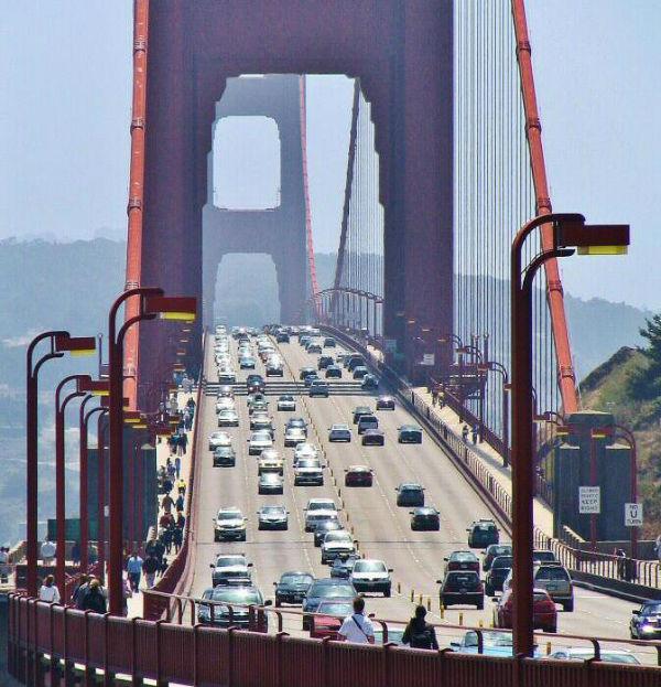 En San Francisco, California se registran altos niveles de contaminación por parque vehicular. Foto: Especial