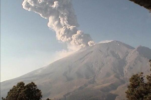 El semáforo volcánico se mantiene en Amarillo Fase 2. Foto: @PC_Puebla