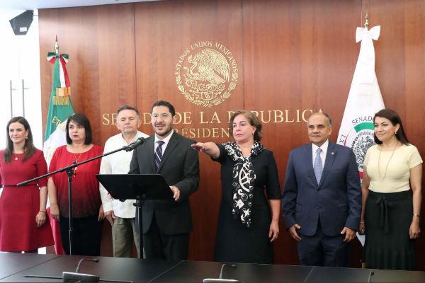 Mercedes del Carmen Guillén Vicente tomó la protesta como senadora de la República