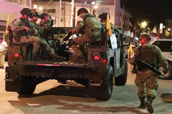 Retén militar en Chiapas