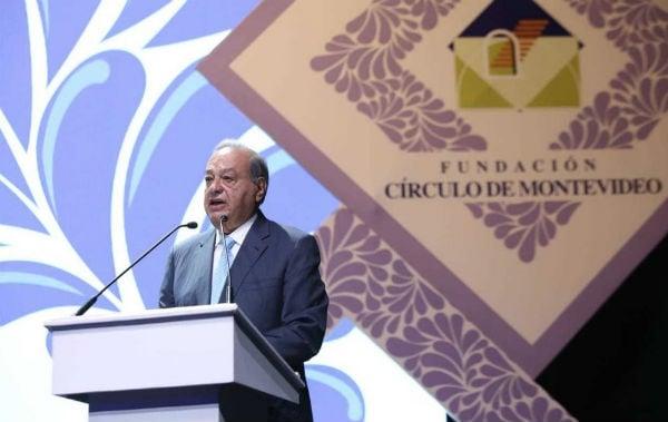 El empresario mexicano Carlos Slim acudió a la Edición 25 de la Reunión Plenaria de la Fundación Círculo de Montevideo. Foto: Especial