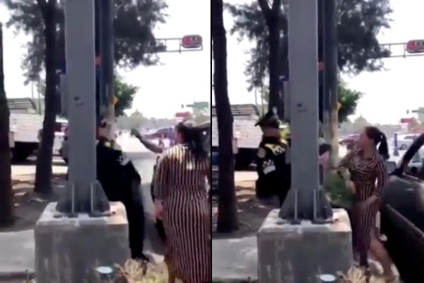 Escupen a policía en la CDMX/ Captura de pantalla