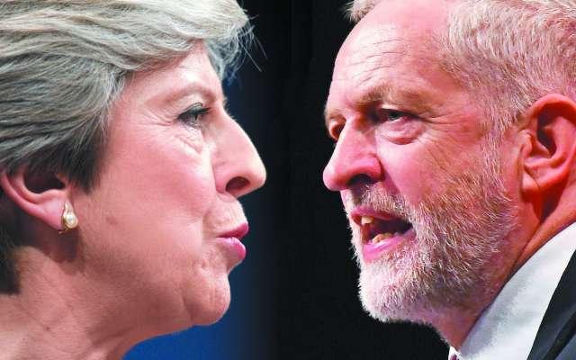 La premier Theresa May y el laborista Jeremy Corbyn se hicieron reproches. Foto: Especial
