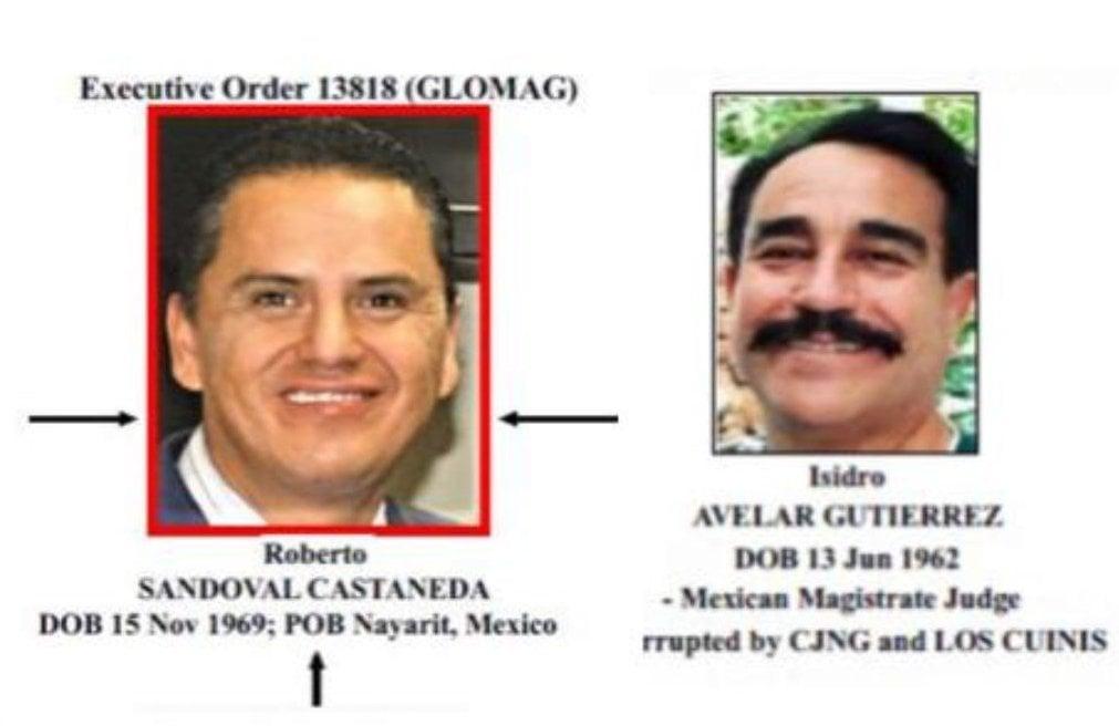 El Departamento del Tesoro de Estados Unidos vinculó hoy al exgobernador Roberto Sandoval Castañeda y al magistrado Isidro Avelar Gutiérrez con presuntos actos de corrupción. Foto: Especial