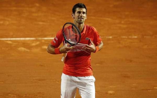 Djokovic jugó ayer un alto nivel ante el argentino Schwartzman. Foto: AP