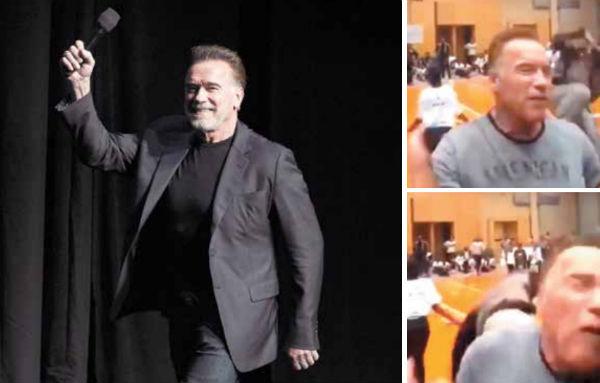 El actor relató que creyó que eran sus fans quienes lo empujaban. Foto: AP