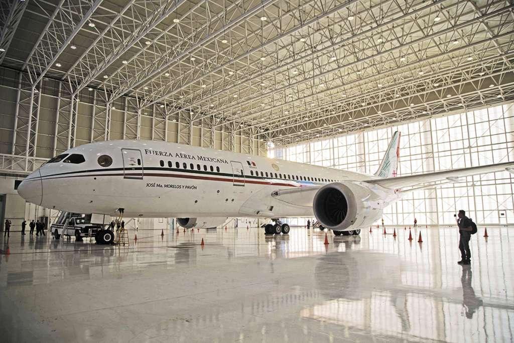 El avión presidencial TP-01 se encuentra en EU. FOTO: ESPECIAL