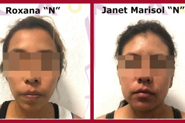 La Fiscalía Antisecuestro presentó ante un Juez de Control en audiencia inicial a Janet Marisol y Roxana. Foto: Especial