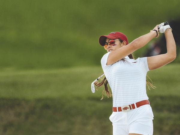 María Fassi jugará hoy con la Universidad de Arkansas por el título nacional por equipos en la ronda de cuartos de final. FOTO: ESPECIAL