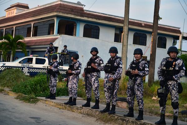 Elementos de la Guardia Nacional en Veracruz