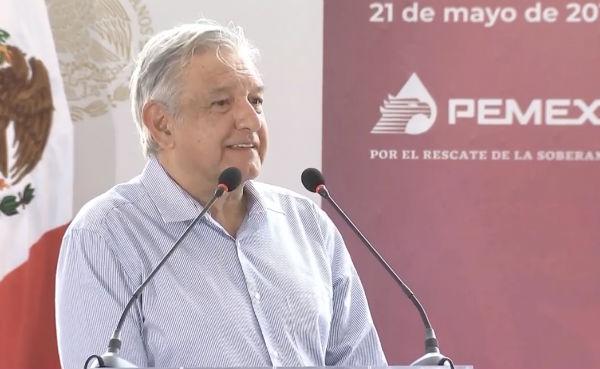 López Obrador dijo que entre todos se debe sacar adelante la reforma energética Foto: Captura de video