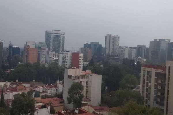 Esta tarde la Ciudad de México y el Estado de México, estuvieron a cuatro puntos de alcanzar Contingencia Ambiental. FOTO: ESPECIAL