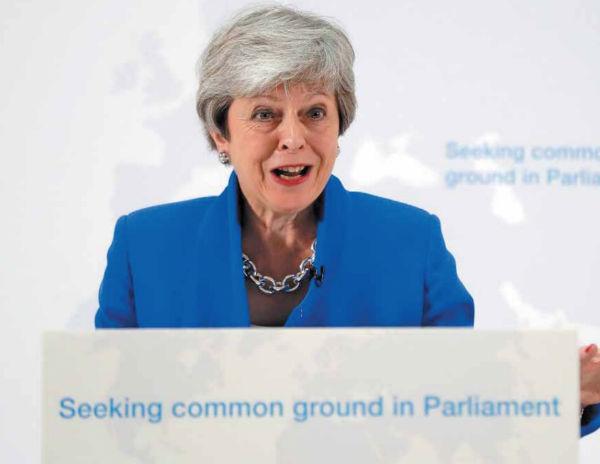 May insistió en que dimitirá si el acuerdo del Brexit es finalmente ratificado en el Parlamento. FOTO: AP