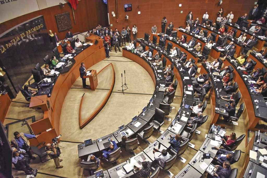 Sólo el senador Emilio Álvarez Icaza se abstuvo de votar, el resto la avaló.FOTO: CUARTOSCURO