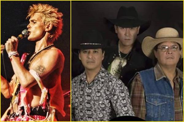Caballo Dorado y Billy Idol en el Festival Coordenada. Foto: Especial