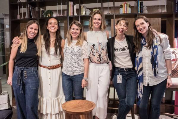 Karla Bermann, Angélica Huacuja, Ana Rico fueron algunas de las invitadas. Foto: Cortesía