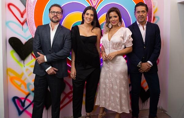 ANFITRIONES. Miguel Ángel Cerdio, Carla Rivera, Karen Rumbos y Ricardo Reyes. Foto: Yaz Ruvera