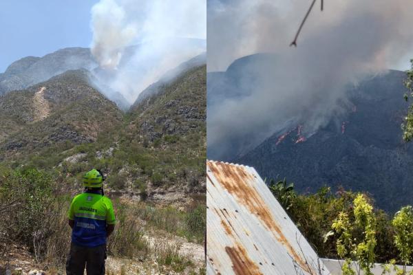 incendio forestal en Nuevo León