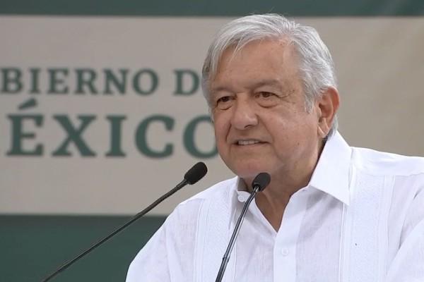 López Obrador se dirigió a los presentes durante la entrega de Programas de Bienestar en Zacatecas. Foto: Especial