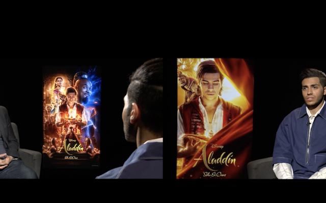 ¿Cómo se grabó Aladdin? sus protagonistas nos cuentan su experiencia