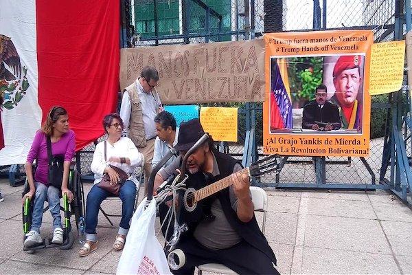 Marcha mitin Embajdaa EU, Venezuela