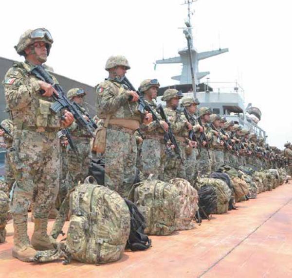 Arriban al puerto 150 elementos; harán patrullajes de prevención. Foto: Especial