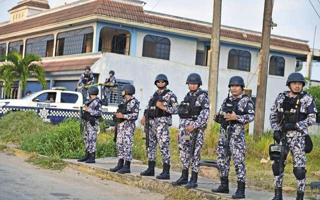 En Minatitlán, Veracruz, operaron por primera vez integrantes de la Guardia Nacional. FOTO: CUARTOSCURO