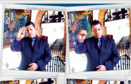 Bardo conversó con El Heraldo de México y transmitió un mensaje en lenguaje de señas.FOTO: MA. TERESA MONTAÑO