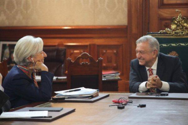 AMLO Lagarde FMI Palacio Nacional