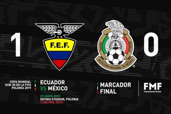 El Tri perdió todos los encuentros de la primera fase del Mundial 20. Foto: Selección Mexicana